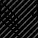 arrow, down, go, pointer, pointing icon