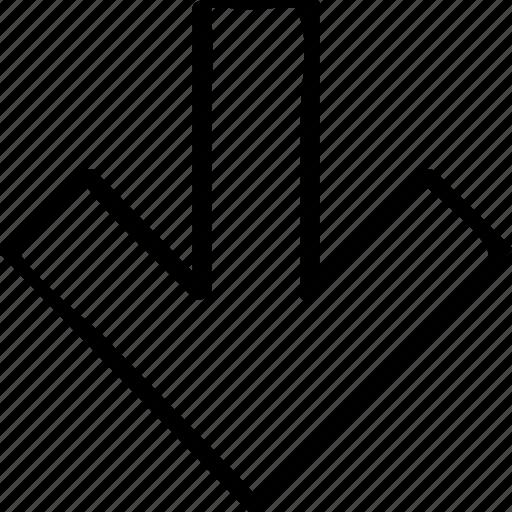 arrow, down, pointer, pointing icon