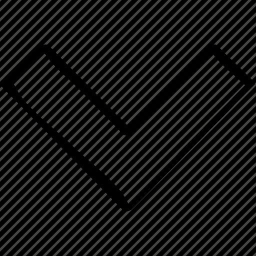 arrow, down, point, pointer, pointing icon