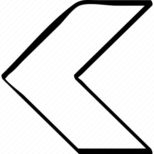 arrow, drawn, hand, pointer, pointing, rewind icon