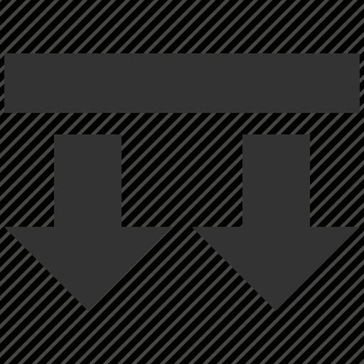 arrow, bring, direction arrows, down, download, send, shift icon