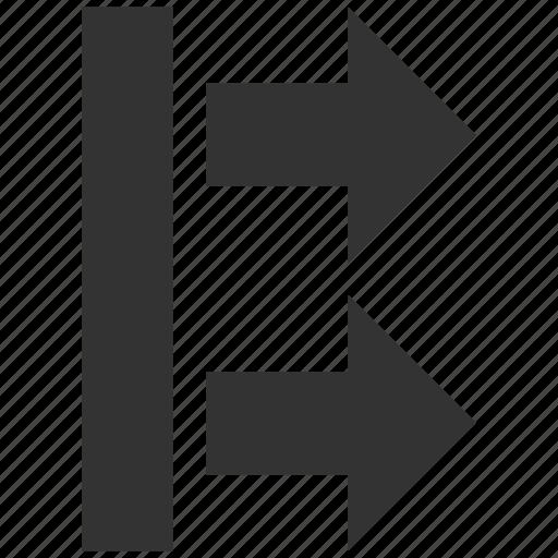arrow, bring, direction arrows, move right, movement, send, shift icon