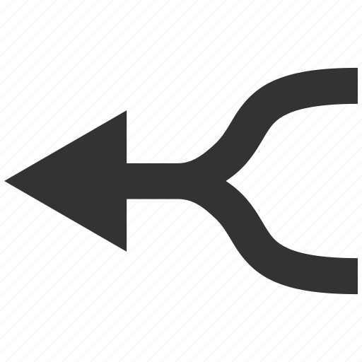 combine, connect, connection, join, left, merge arrow, put together icon