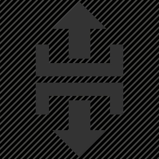 direction, divide, divider, navigation, split, splitter, vertical icon