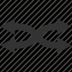 arrows, exchange, flip, horizontal, mix, replace, shuffle icon