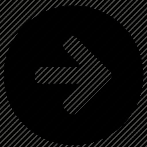 arrowhead, arrows, bow, direction, marker, move, right icon
