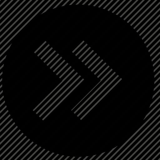 arrowhead, arrows, bow, direction, fast forward, marker icon