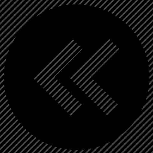 arrowhead, arrows, back, bow, direction, fast backward, marker icon