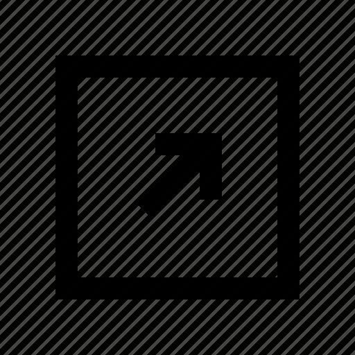arrow, arrows, diagonal icon