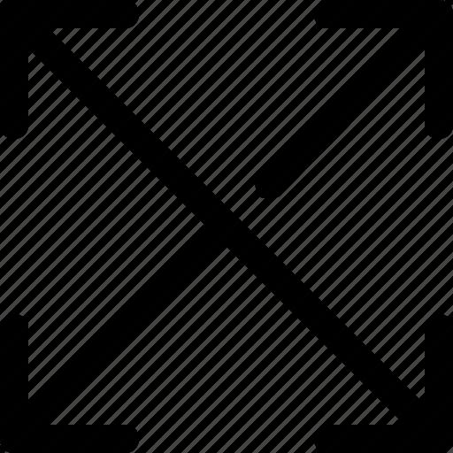 arrows, expand, maximize icon