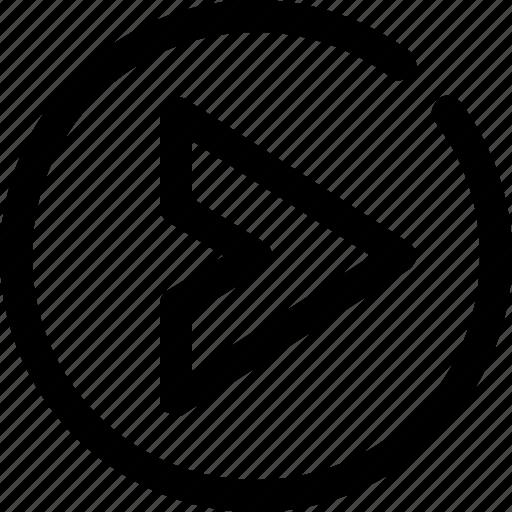 caret, circle, right icon
