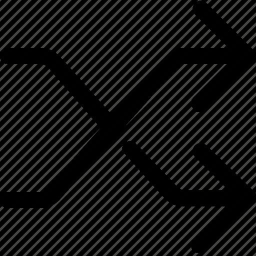 cross, mix, random, shuffle icon