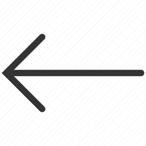 arrow left, backward, direction, navigation, pointer, previous, undo icon
