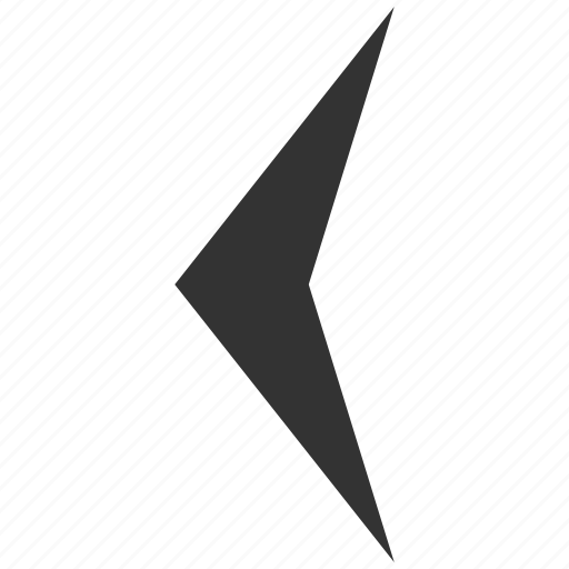 arrow head, arrowhead, direction, left, move, orientation, pointer icon