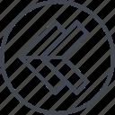 arrow, double, left, navigation, point, ui, ux icon
