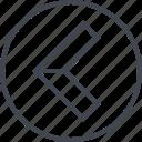 arrow, exit, left, navigation, point, ui, ux icon