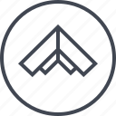 arrow, go, navigation, point, ui, upload, ux icon