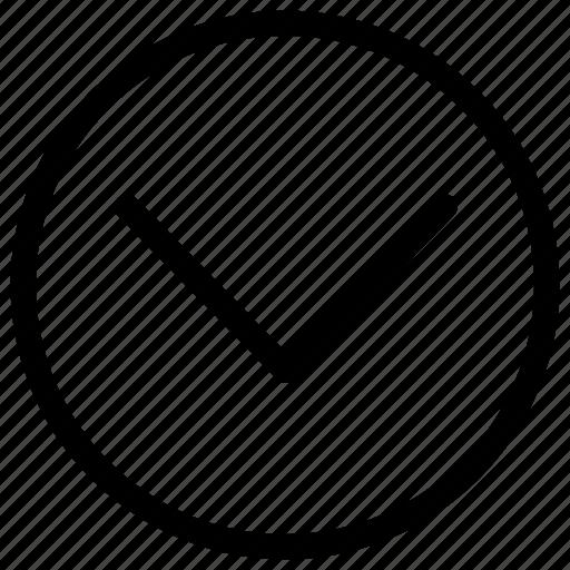arrow, bottom, circle, descend, down, downward icon