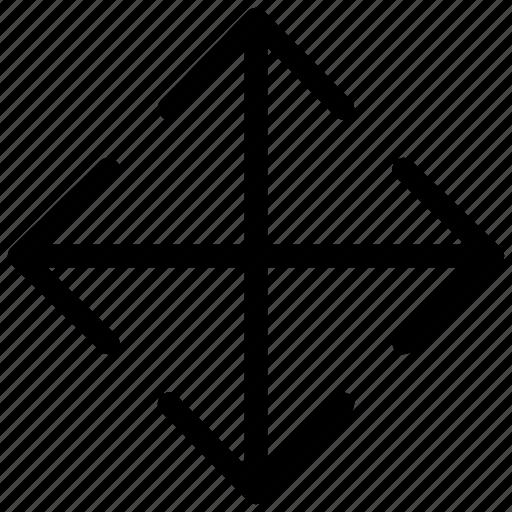 arrows, college, cursor, drag, move, options, pointer icon