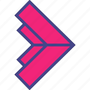 abstract, arrow, go, right icon