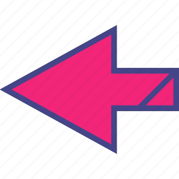 arrow, back, direction, point, pointer icon