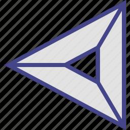 abstract, arrow, design, left icon