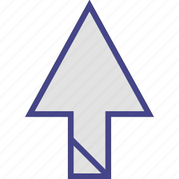 arrow, direction, point, up, uploading icon