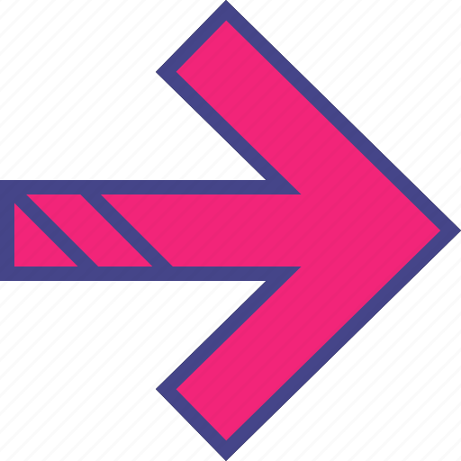 arrow, direction, double, point icon