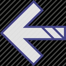 arrow, back, double, exit, left icon