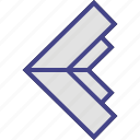 arrow, exit, left, point icon