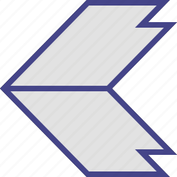 arrow, left, point, thick icon