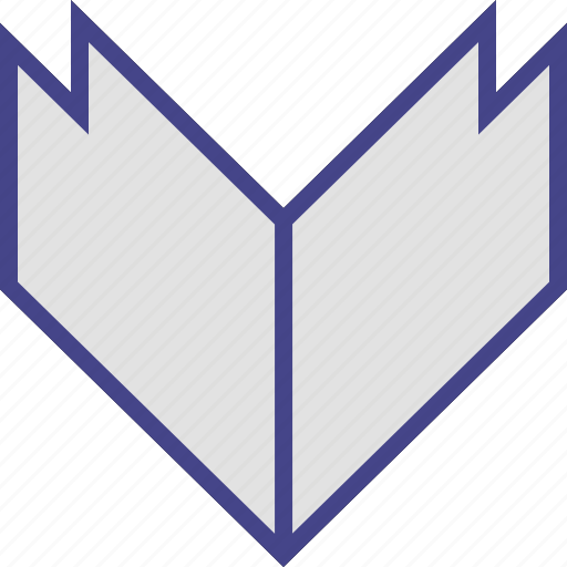 arrow, down, point, thick icon