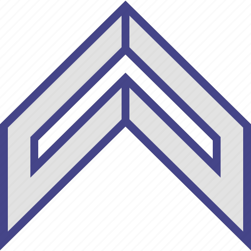 arrow, sharp, sleek, up icon