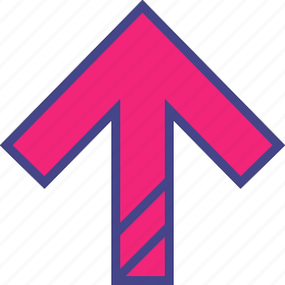 arrow, diagnol, direction, point, up icon