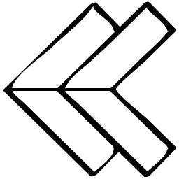 back, direciton, double, point, pointer icon