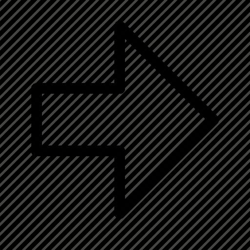 arrow, continue, forward, last, next, right, send icon
