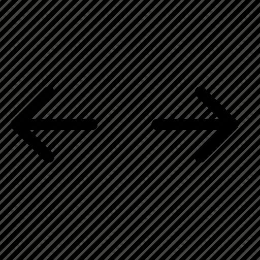 curser, expand, fullscreen, horizontal, resize, size, width icon