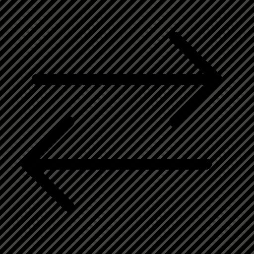 change, direction, flip, horizontal, lane, swap, switch icon