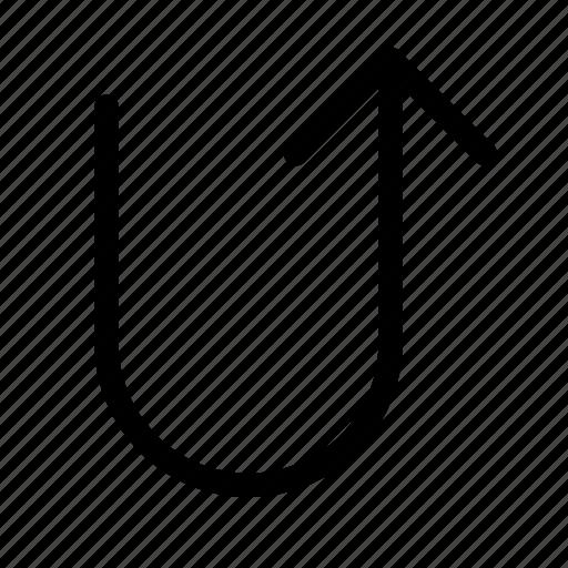 turn, u, up icon