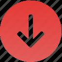arrow, down, downgrade, download