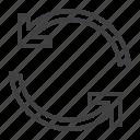 arrows, synchronize, update icon