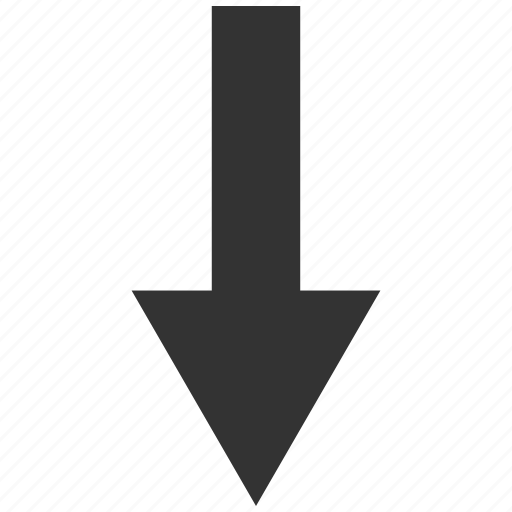 arrow, direction, down, download, minimize, move, receive icon