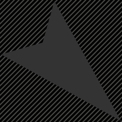arrow head, arrowhead, cursor, directional, pointer, right down, right-down icon