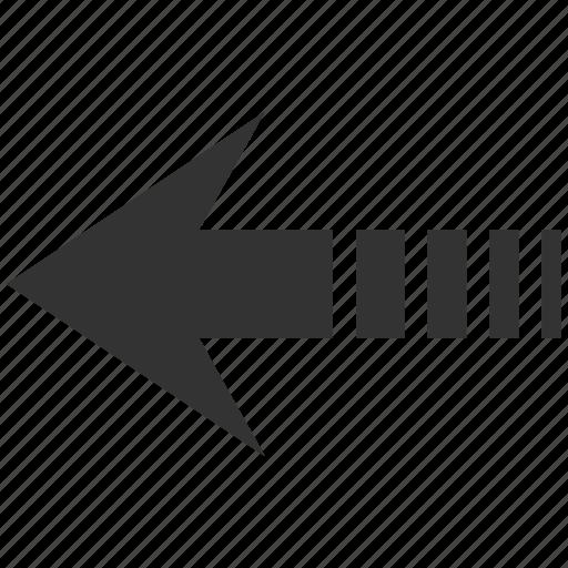 arrow, back, history, pointer, previous, send left, undo icon
