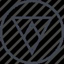 arrow, design, down, point, triangle, ui, ux icon