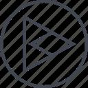 arrow, design, point, right, triangle, ui, ux icon