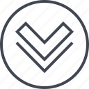 arrow, design, down, download, point, ui, ux icon