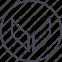 arrow, down, go, navigation, point, ui, ux icon