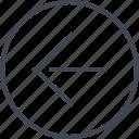 arrow, design, left, point, ui, ux icon