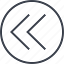 arrow, design, exit, left, point, ui, ux icon